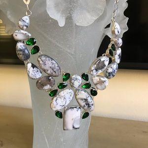 Jewelry - Sterling Silver Bib Necklace Statement Piece New